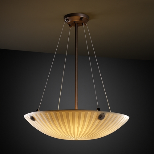 Justice Design Group Justice Design Group Porcelina Collection Pendant Light PNA-9661-35-WFAL-DBRZ-F6