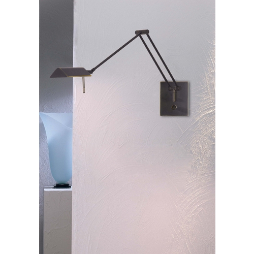 Holtkoetter Lighting Holtkoetter Modern Swing Arm Lamp in Hand-Brushed Old Bronze Finish 8191 HBOB