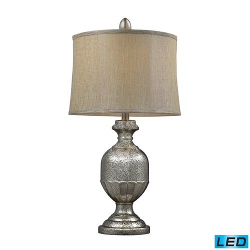 Dimond Lighting Dimond Lighting Antique Mercury LED Table Lamp with Drum Shade D2238-LED