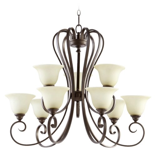 Quorum Lighting Quorum Lighting Celesta Oiled Bronze Chandelier 6053-9-86