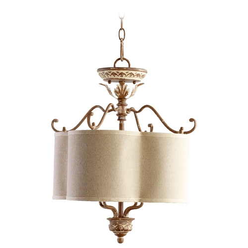 Quorum Lighting Quorum Lighting Salento French Umber Pendant Light with Drum Shade 2706-18-94