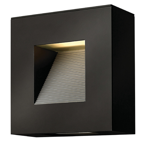 Hinkley Lighting Hinkley Lighting Luna Satin Black LED Outdoor Wall Light 1647SK-LED
