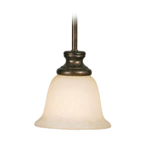 Golden Lighting Golden Lighting Heartwood Burnt Sienna Mini-Pendant Light with Bell Shade 8063-M1L BUS