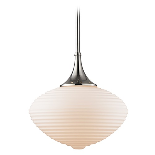 Hudson Valley Lighting Hudson Valley Lighting Knox Satin Nickel Pendant Light with Oblong Shade 1916-SN