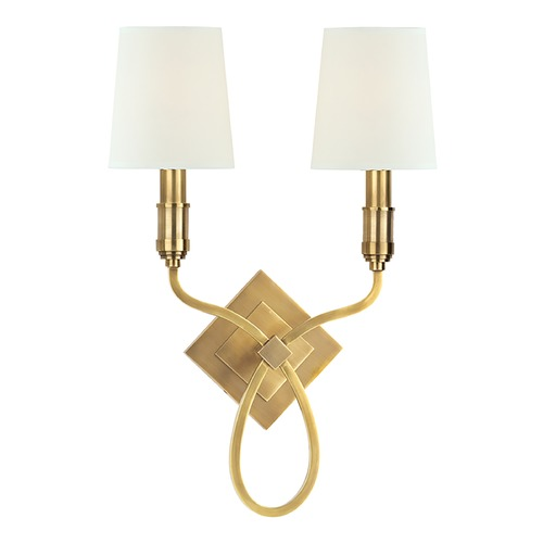 Hudson Valley Lighting Hudson Valley Lighting Westbury Aged Brass Sconce 422-AGB-WS