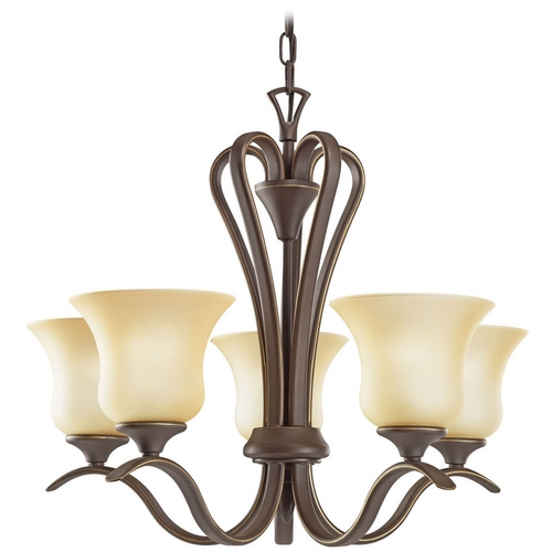 Kichler Lighting Kichler Chandelier with Beige / Cream Shades in Olde Bronze Finish 10740OZ
