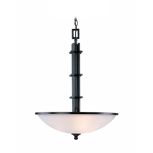 Lite Source Lighting Modern Pendant Light with White Glass in Copper Finish LS-19533