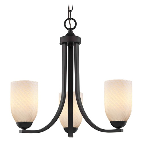 Design Classics Lighting Design Classics Dalton Fuse Neuvelle Bronze Mini-Chandelier 5843-220 GL1020D