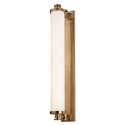 Hudson Valley Lighting Sheridan Aged Brass LED Bathroom Light 9714-AGB