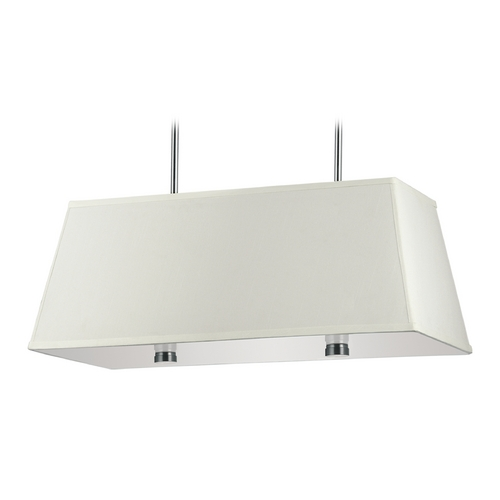 Sea Gull Lighting Modern Pendant Light with White Shades in Brushed Nickel Finish 65266BLE-962