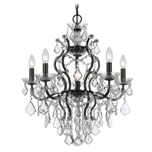 Crystorama Lighting Crystorama Lighting Filmore Vibrant Bronze Crystal Chandelier 4455-VZ-CL-SAQ