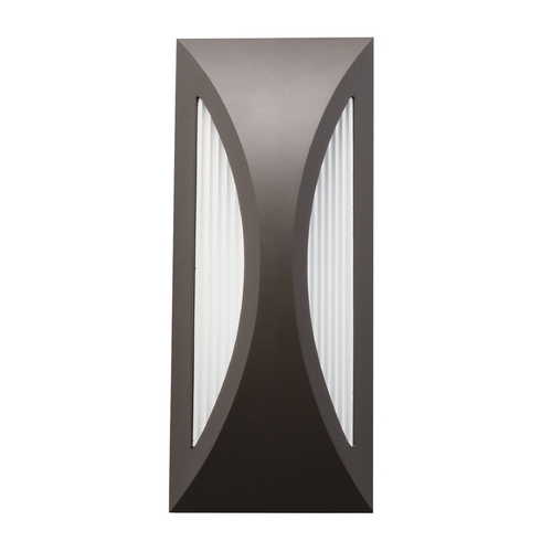 Kichler Lighting Kichler Lighting Cesya Architectural Bronze LED Outdoor Wall Light 49494AZ