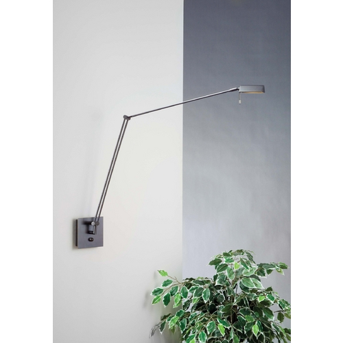 Holtkoetter Lighting Holtkoetter Modern Swing Arm Lamp in Hand-Brushed Old Bronze Finish 8192 HBOB