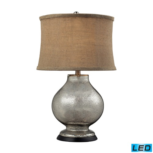 Dimond Lighting Dimond Lighting Antique Mercury LED Table Lamp with Drum Shade D2239-LED