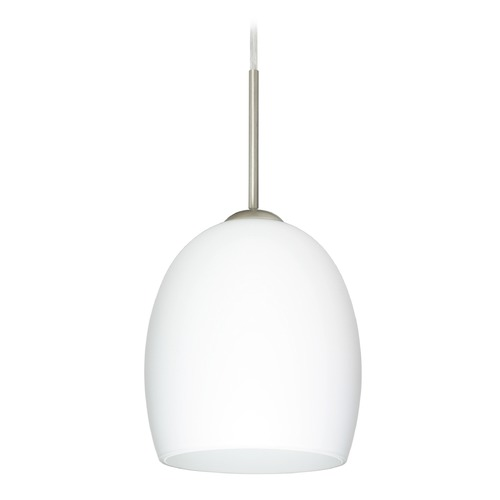 Besa Lighting Besa Lighting Lucia Satin Nickel LED Mini-Pendant Light 1JT-169707-LED-SN