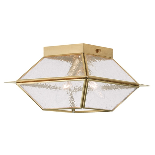 Livex Lighting Livex Lighting Mansfield Polished Brass Close To Ceiling Light 2175-02