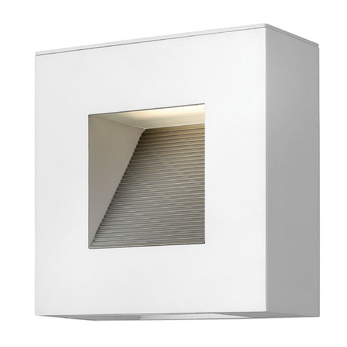 Hinkley Lighting Hinkley Lighting Luna Satin White LED Outdoor Wall Light 1647SW-LED