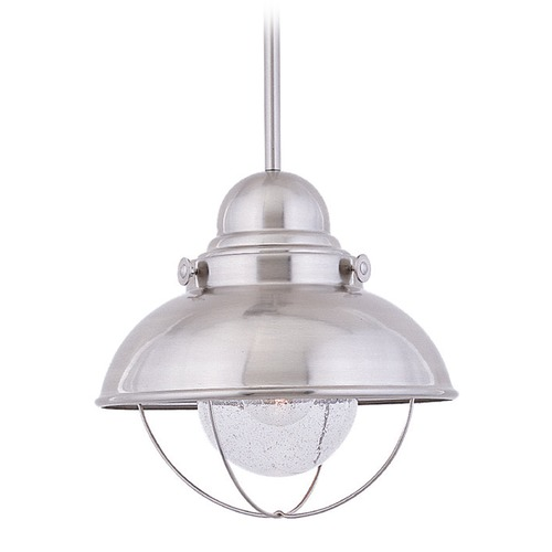 Sea Gull Lighting Sea Gull Lighting Sebring Brushed Stainless LED Outdoor Hanging Light 665891S-98