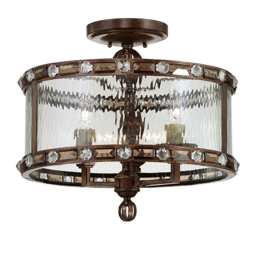 Savoy House Savoy House Gilded Bronze Semi-Flushmount Light 6-6032-3-131