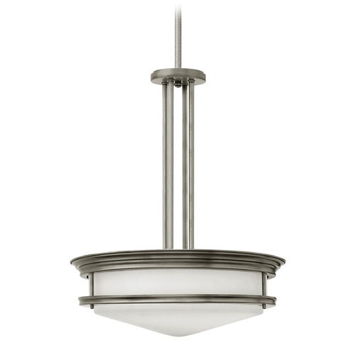 Hinkley Lighting Hinkley Lighting Hadley Antique Nickel Pendant Light with Bowl / Dome Shade 3305AN-GU24