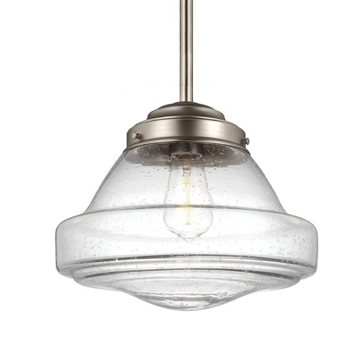 Feiss Lighting Feiss Alcott Satin Nickel Pendant Light P1380SN