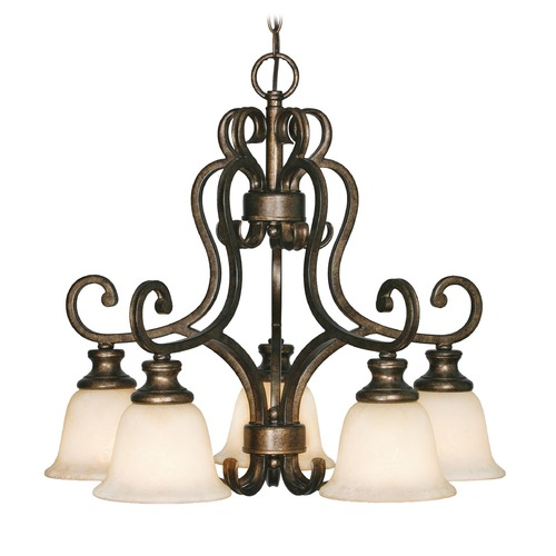 Golden Lighting Golden Lighting Heartwood Burnt Sienna Chandelier 8063-D5 BUS