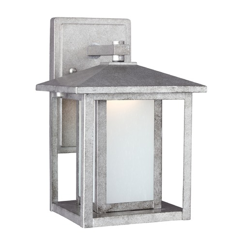Sea Gull Lighting Sea Gull Hunnington Weathered Pewter LED Outdoor Wall Light 8902991S-57