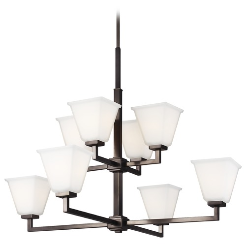 Sea Gull Lighting Sea Gull Lighting Ellis Harper Brushed Oil Rubbed Bronze LED Chandelier 3113708EN3-778