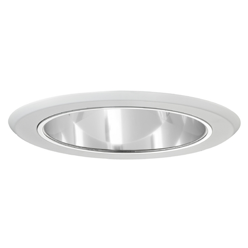 Recesso Lighting by Dolan Designs Clear Deep Reflector Trim for 5-Inch Recessed Cans T505C-WH