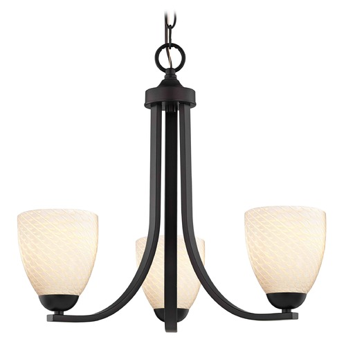 Design Classics Lighting Design Classics Dalton Fuse Neuvelle Bronze Mini-Chandelier 5843-220 GL1020MB