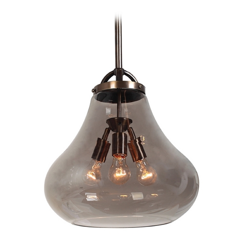 Access Lighting Access Lighting Flux Distressed Bronze Pendant Light 55547-DBRZ/SMK