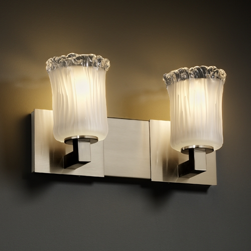 Justice Design Group Justice Design Group Veneto Luce Collection Bathroom Light GLA-8922-16-WTFR-NCKL