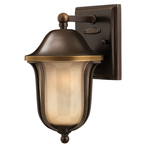 Hinkley Lighting Outdoor Wall Light with Amber Glass in Olde Bronze Finish 2636OB