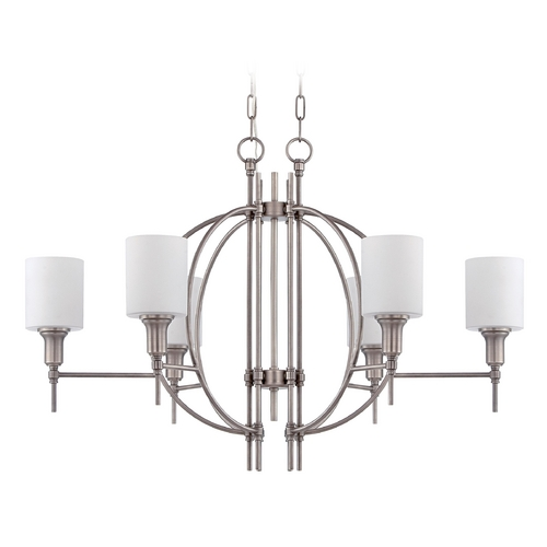 Jeremiah Lighting Jeremiah Lighting Meridian Antique Nickel Chandelier  37276-AN