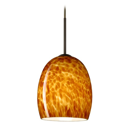Besa Lighting Besa Lighting Lucia Bronze LED Mini-Pendant Light 1JT-169718-LED-BR