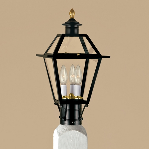 Norwell Lighting Norwell Lighting Lexington Black Post Light 2234-BL-CL