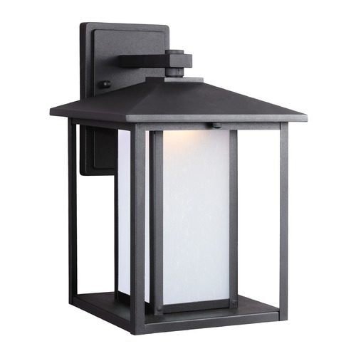 Sea Gull Lighting Sea Gull Hunnington Black LED Outdoor Wall Light 8903191S-12