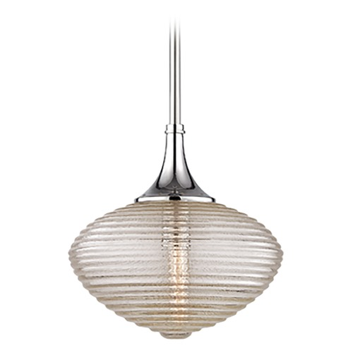 Hudson Valley Lighting Hudson Valley Lighting Knox Polished Nickel Pendant Light with Oblong Shade 1922-PN