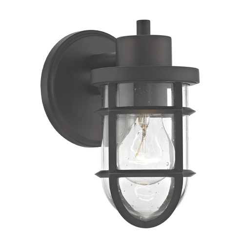 Design Classics Lighting Seeded Glass Outdoor Wall Light with Bronze Cage 1841-79