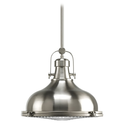 Progress Lighting Progress Nautical Style Pendant Light in Satin Nickel Finish  P5197-09