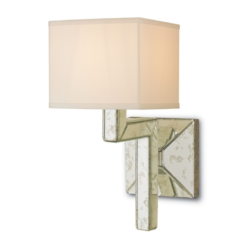 Currey and Company Lighting Currey and Company Lighting Viejo Silver / Antique Mirror Sconce 5159