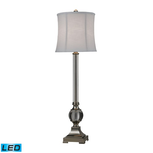 Dimond Lighting Dimond Lighting Clear, Polished Nickel LED Table Lamp with Drum Shade D2309-LED