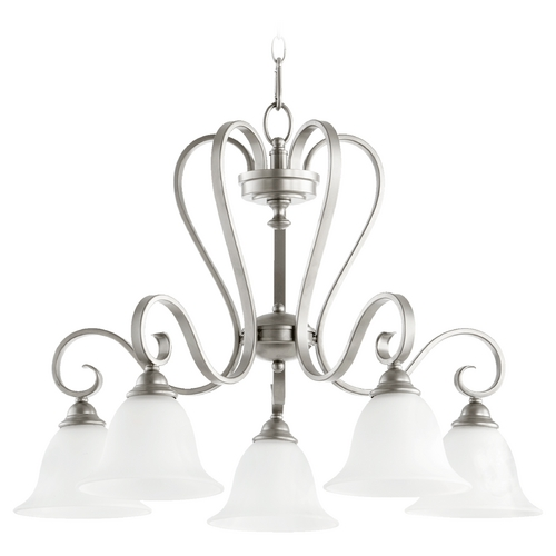 Quorum Lighting Quorum Lighting Celesta Classic Nickel Chandelier 6453-5-64