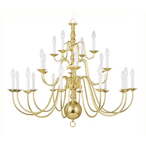 Livex Lighting Livex Lighting Williamsburg Polished Brass Chandelier 5015-02