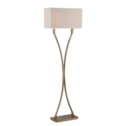 Lite Source Lighting Lite Source Antique Brass Floor Lamp with Rectangle Shade LS-82615