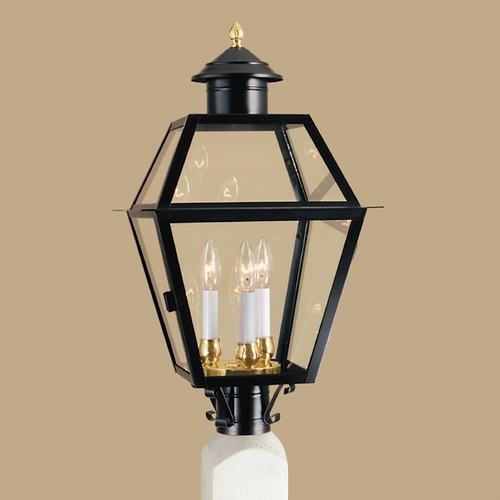 Norwell Lighting Norwell Lighting Lexington Black Post Light 2235-BL-CL
