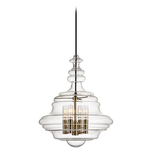 Hudson Valley Lighting Washington 4 Light Pendant Light - Aged Brass 4016-AGB