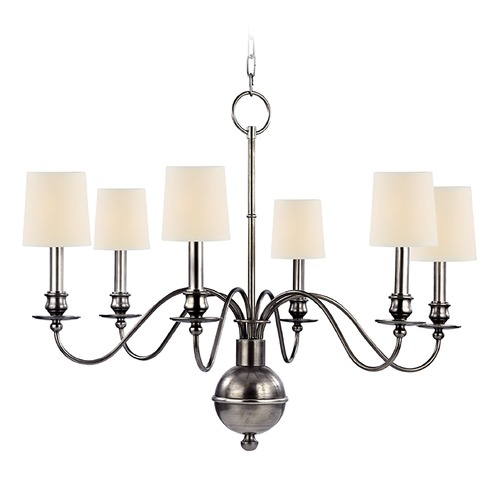 Hudson Valley Lighting Hudson Valley Lighting Cohasset Aged Silver Chandelier 8216-AS