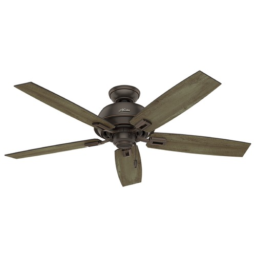 Hunter Fan Company Hunter Fan Company Donegan Damp Onyx Bengal Ceiling Fan Without Light 54167