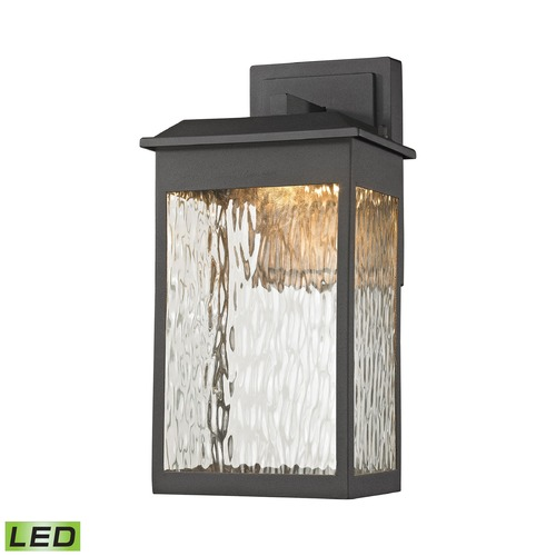 Elk Lighting Elk Lighting Newcastle Textured Matte Black LED Outdoor Wall Light 45200/LED